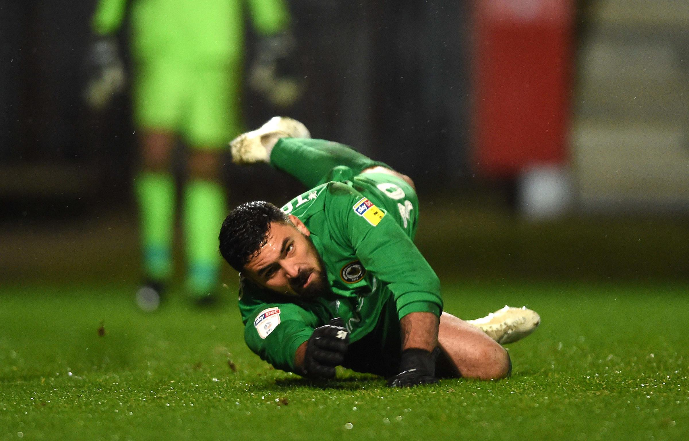 INJURED: Newport County's number two goalkeeper Nick Townsend is unlikely to be fit to play again this season