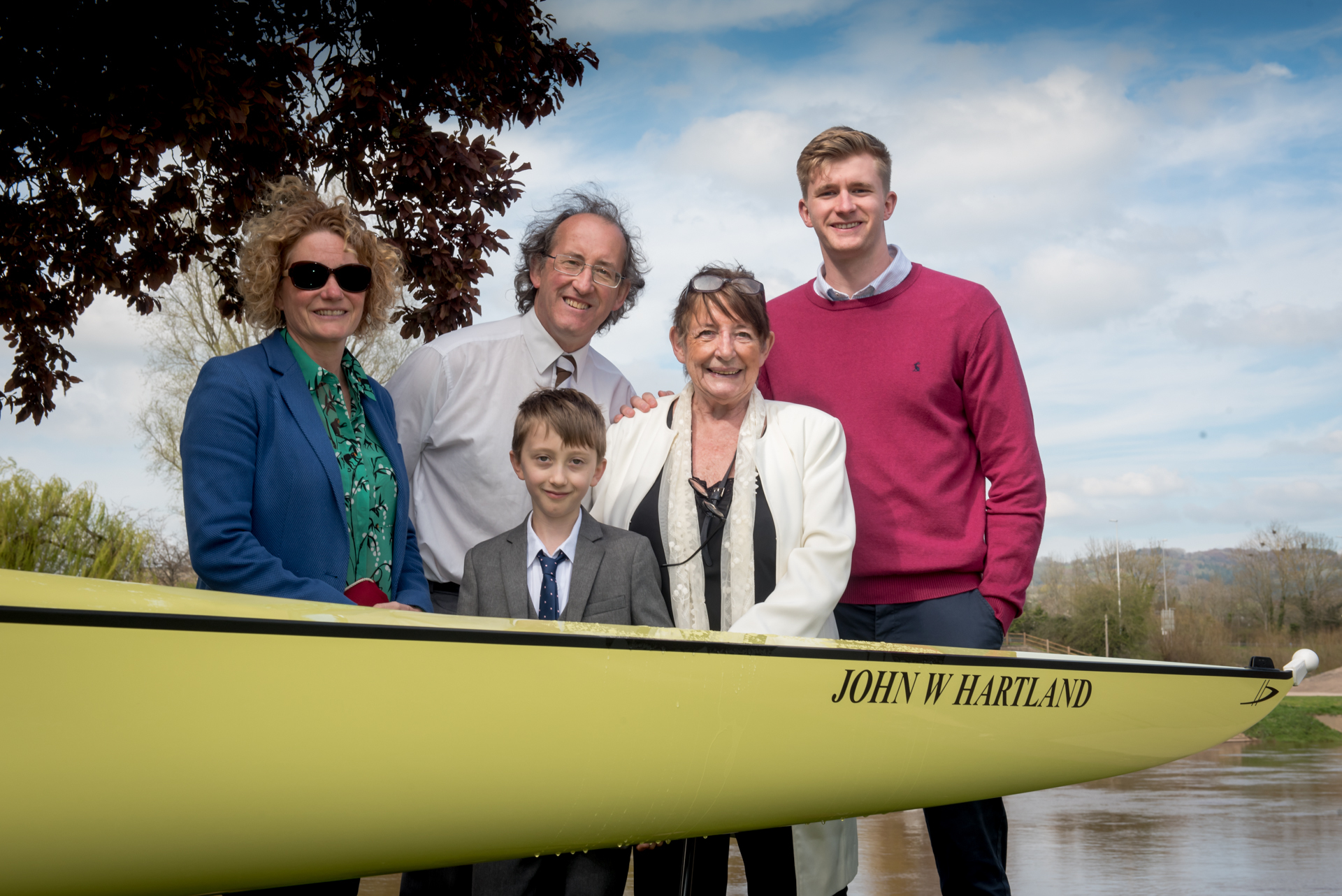 School in Monmouth unveils new boat named for Commonwealth coach John Hartland