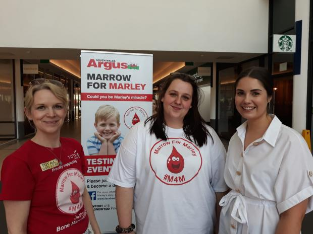 South Wales Argus: Marley's mum, Shaney Truman (centre) at today's event