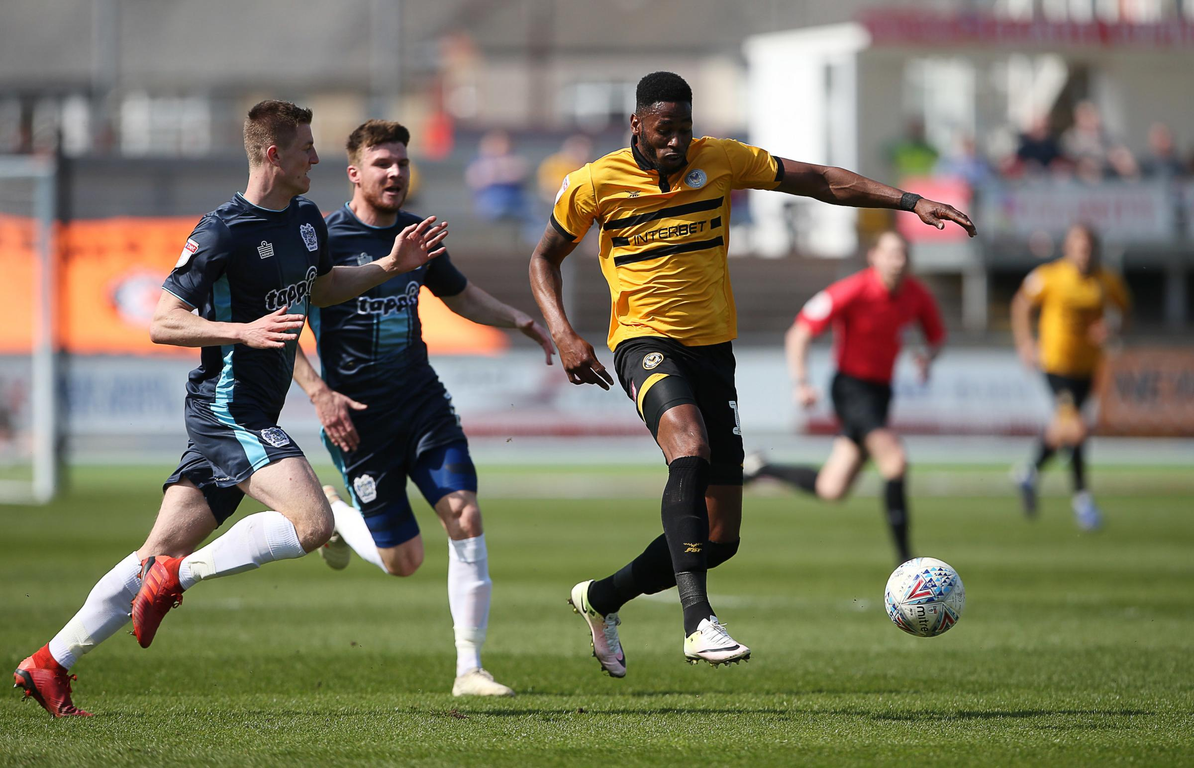 CONTROL: Newport County striker Jamille Matt scored his 19th goal of the season in Friday's win over Bury