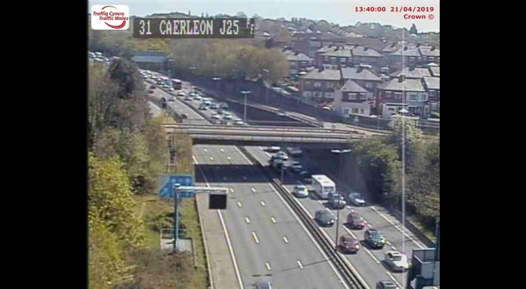 M4 collision blocks two lanes