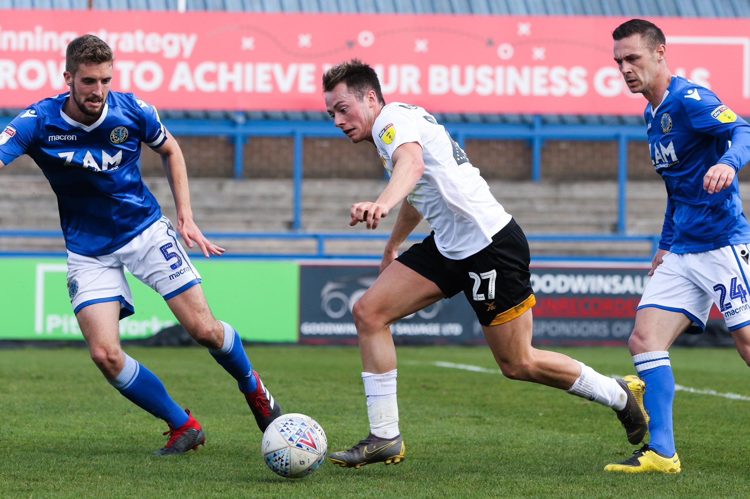 START: Harry McKirdy in action for Newport County at Macclesfield Town. Pictures: Huw Evans Agency