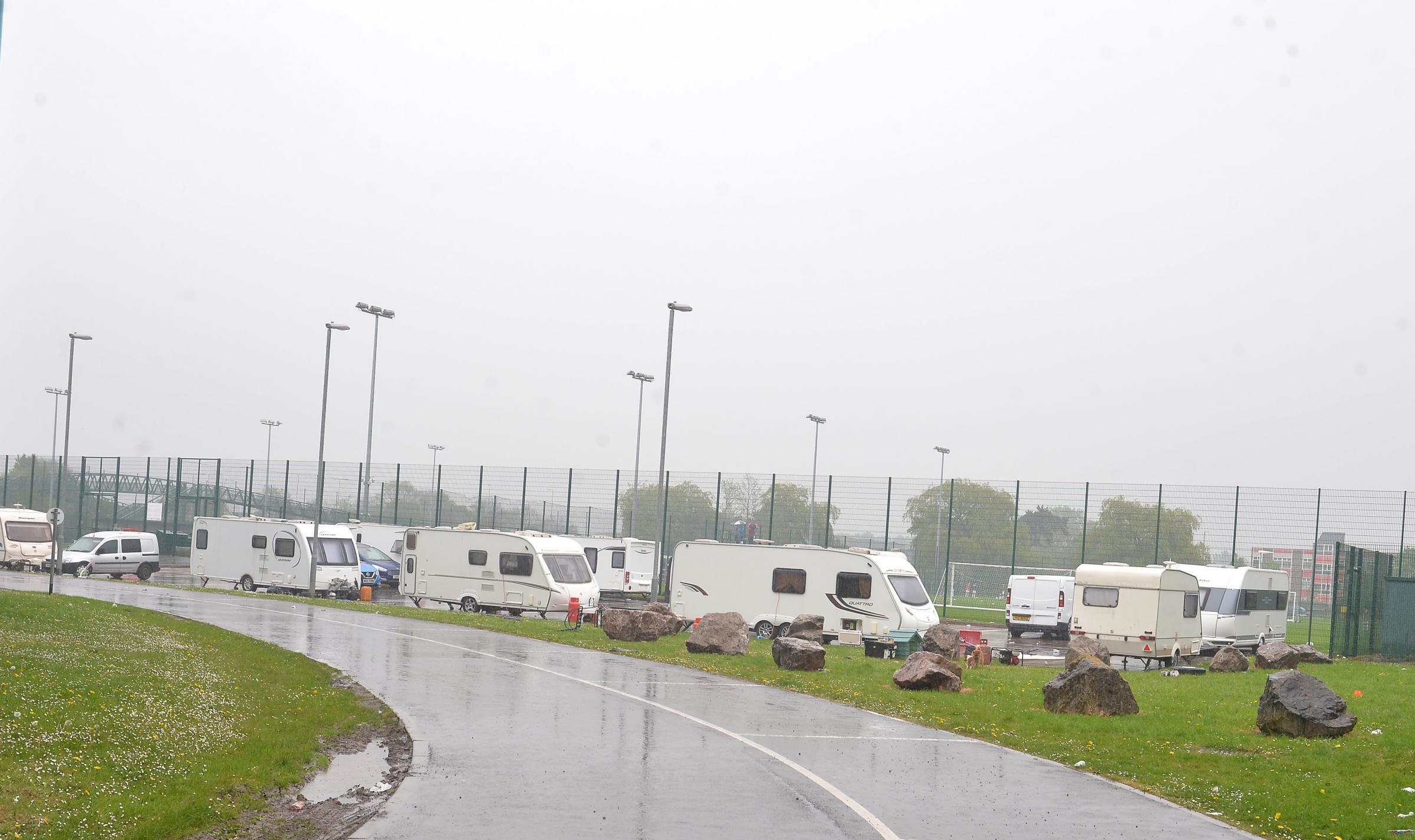 Travellers set up another illegal encampment in Newport