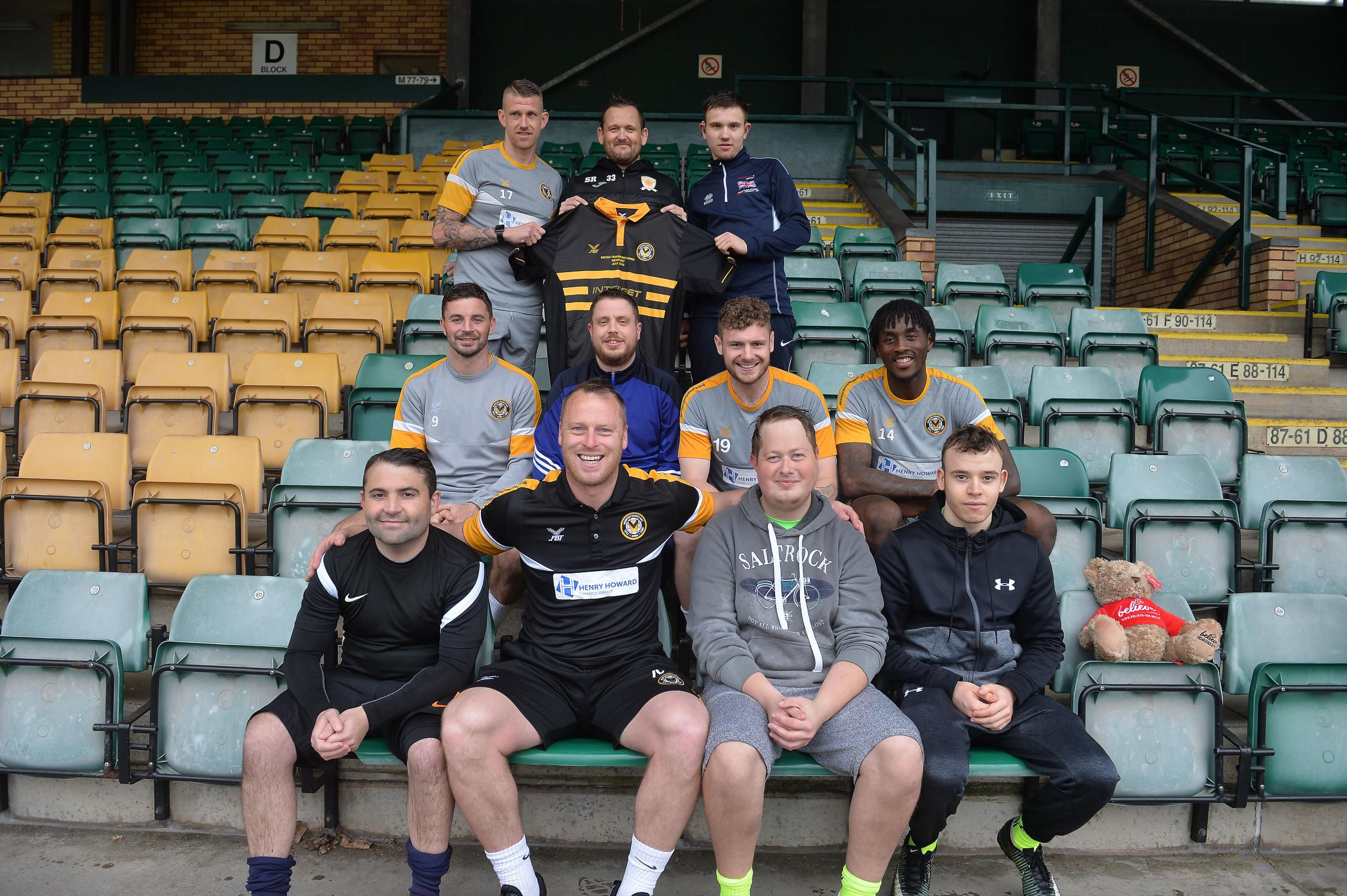 Transplant Games football team train with the Exiles