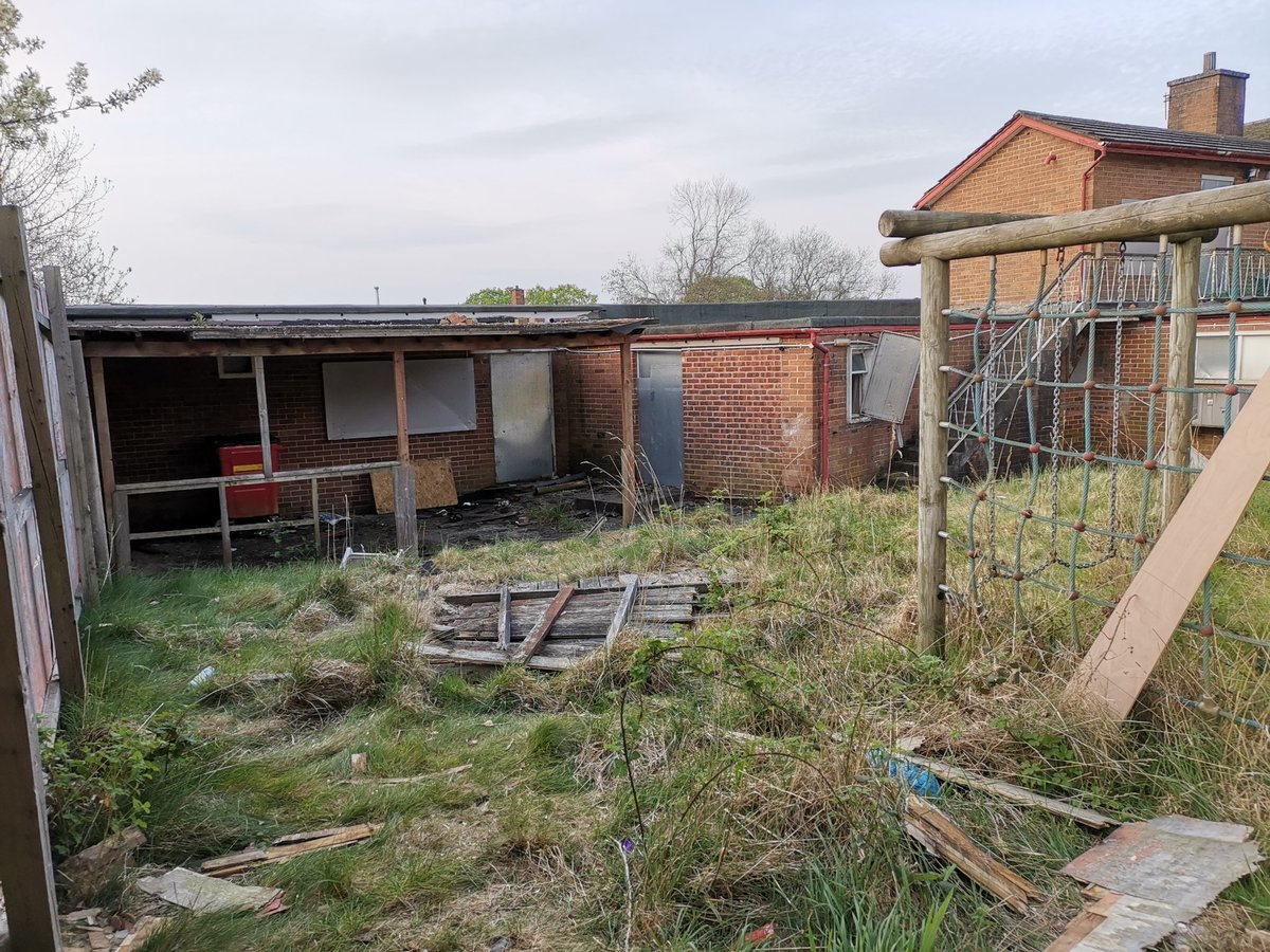 Damage caused to fence and fires started in nearby bins at former Yew Tree pub