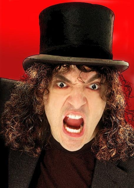 Comedian Jerry Sadowitz who recently performed at The Riverfront in Newport