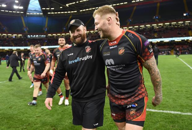South Wales Argus: CELEBRATION: Ceri Jones with Ross Moriarty