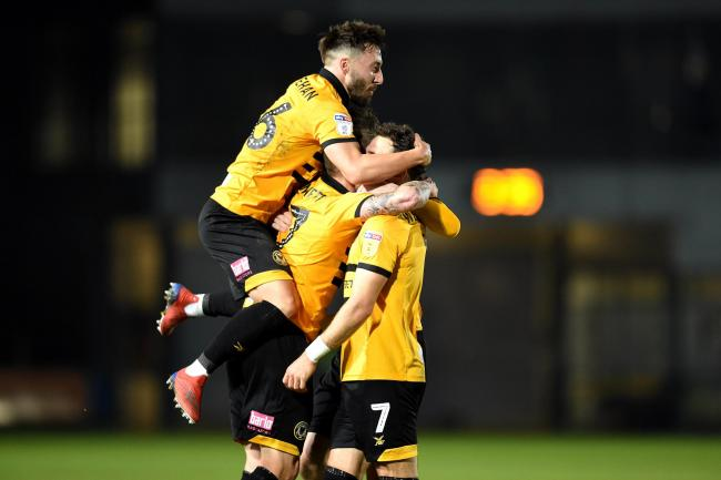 OPPORTUNITY: Newport County hope to be celebrating a place in the League Two play-offs on Saturday. Pictures: Huw Evans Agency
