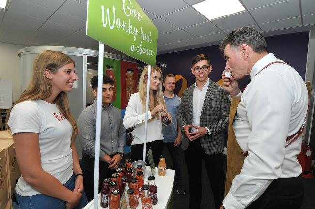 Ross McEwan, CEO of NatWest, meets some of the members of 2018'S Entrepreneur Accelerator cohort in Cardiff when he visited the facility last year