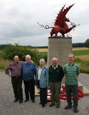 'Pilgrims' visit site of Gwent soldiers' Great War victory