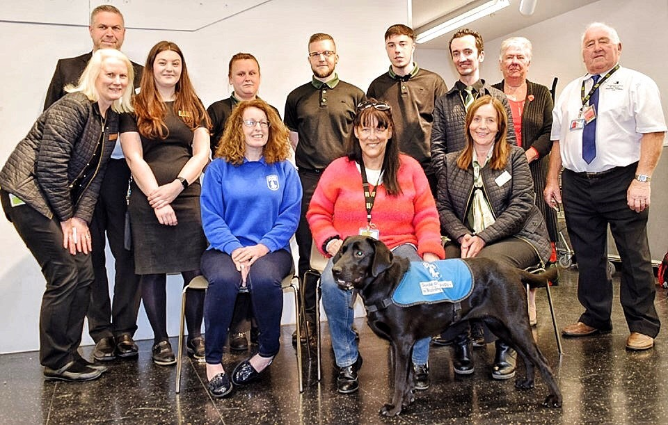Guide dog helped bring some cheer to M&S staff ahead of store closure