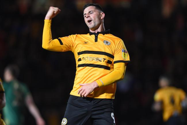 EQUALISER: Padraig Amond earned Newport County a 1-1 draw with Mansfield Town. Pictures: Huw Evans Agency