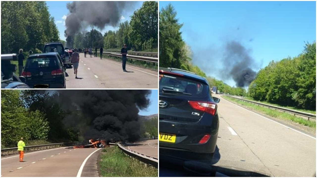 A40 plane crash in Monmouthshire