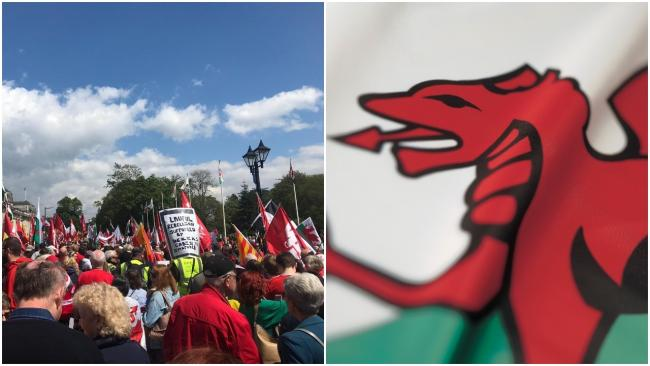 Thousands took part in a Welsh march for Independence in Cardiff city