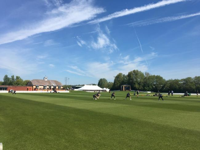 FINAL PREPARATIONS: Glamorgan train at Newport's Spytty Park ahead of their County Championship game with Gloucestershire