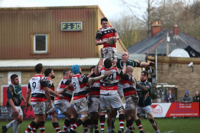GRUNT UP FRONT: Pontypool's pack needs to get on top against Llanelli on Friday evening