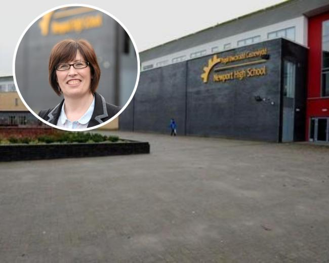 Karyn Keane (inset) has resigned her position as head of Newport High