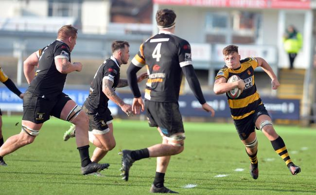 CHALLENGE: Bright prospects at the Dragons, like Wales Under-20s flanker Lennon Greggains, seen here in action for Newport, will have to earn opportunities in the Premiership next season