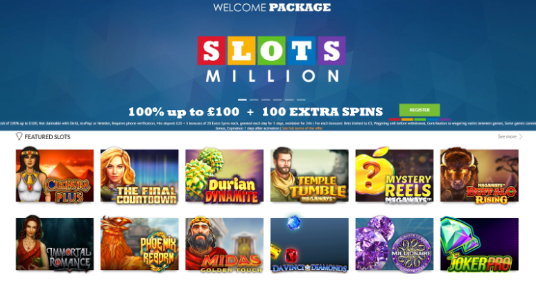 SlotsMillion now carries over 2,100 top titles