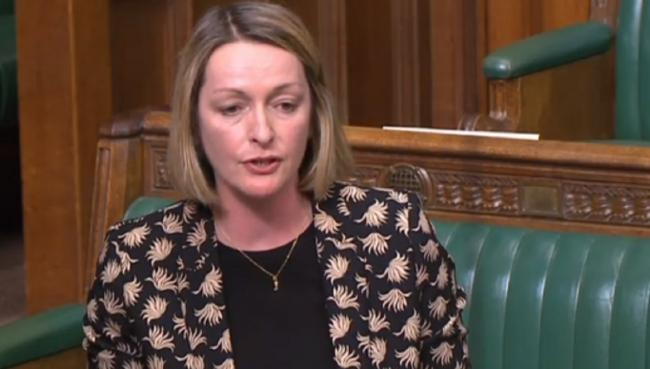 Newport East MP Jessica Morden speaking in Parliament this week.