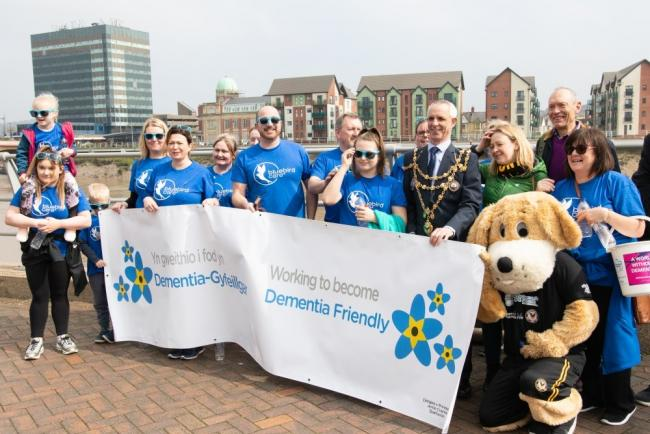 CHARITY: People taking part in the Newport Walk for Dementia in 2019