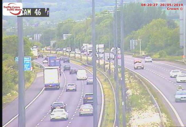 The M4 between junctions 23 and 24 - Picture, Traffic Wales