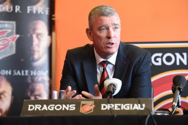 SMALL BUDGET: Dragons boss Dean Ryan doesn't have much room for manoeuvre in the transfer market