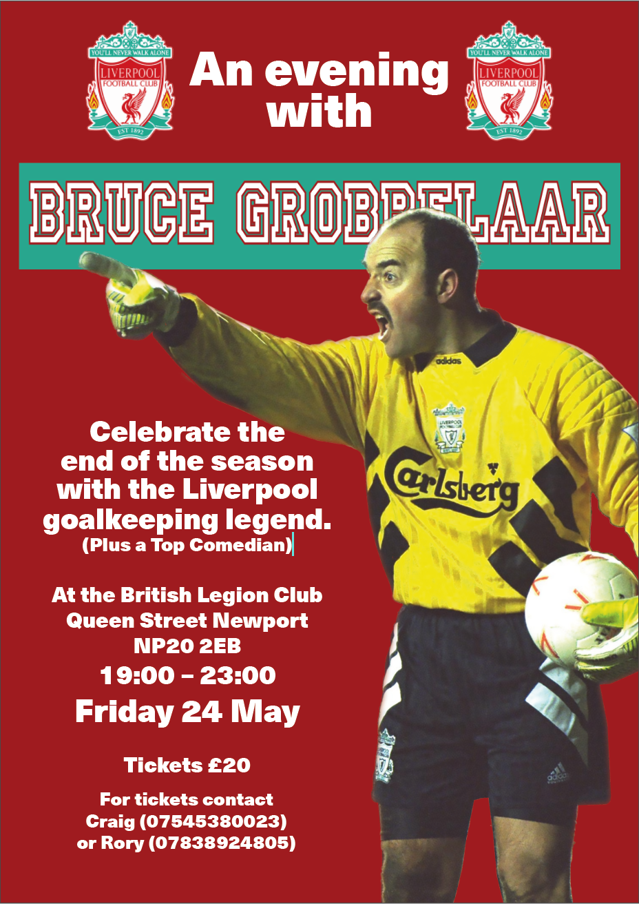 Ann evening with Bruce Grobbelaar