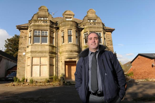 FORMER OWNER:  Pasquale Cinotti outside Rothbury House