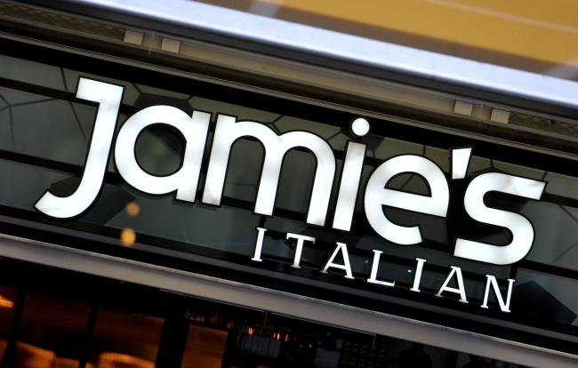 File photo dated 28/01/16 of a sign for Jamie's Italian, as the restaurant chain founded and majority-owned by celebrity chef Jamie Oliver, has appointed administrators, putting as many as 1,300 jobs at risk. PRESS ASSOCIATION Photo. Issue date: Tues