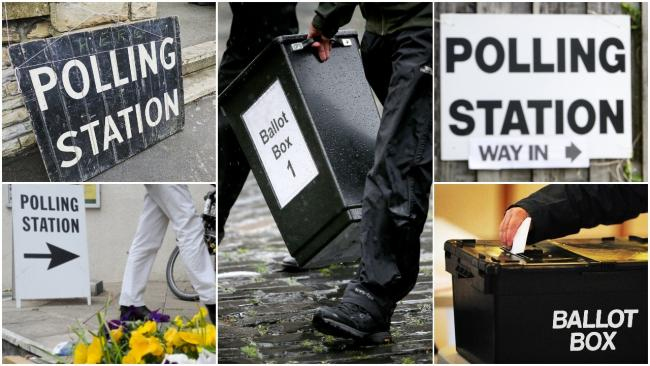 Polling station collage