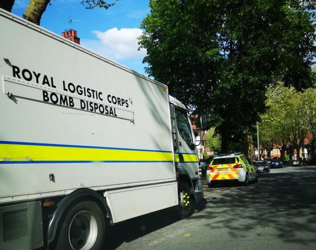South Wales Argus: Bomb disposal unit in Edward VII Avenue, Newport. Picture: Jonathan Powell/@Thenewsagent