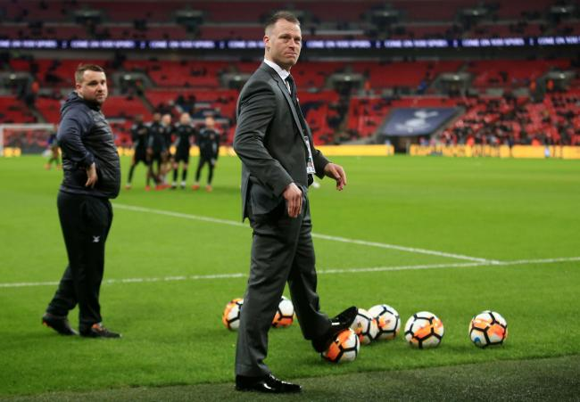 PRIDE: Newport County manager Michael Flynn at Wembley before the FA Cup fourth round replay against Tottenham Hotspur in February 2018