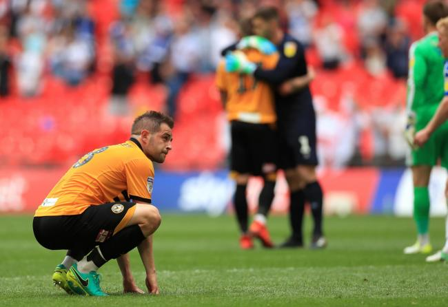 GUTTED: Newport County's Matty Dolan is still not over the pain of losing at Wembley in May