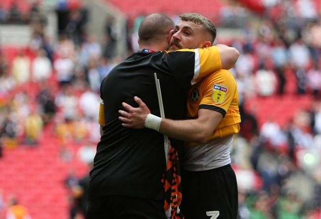 FAREWELL: Dan Butler and Newport County.were so close to winning promotion at Wembley last month
