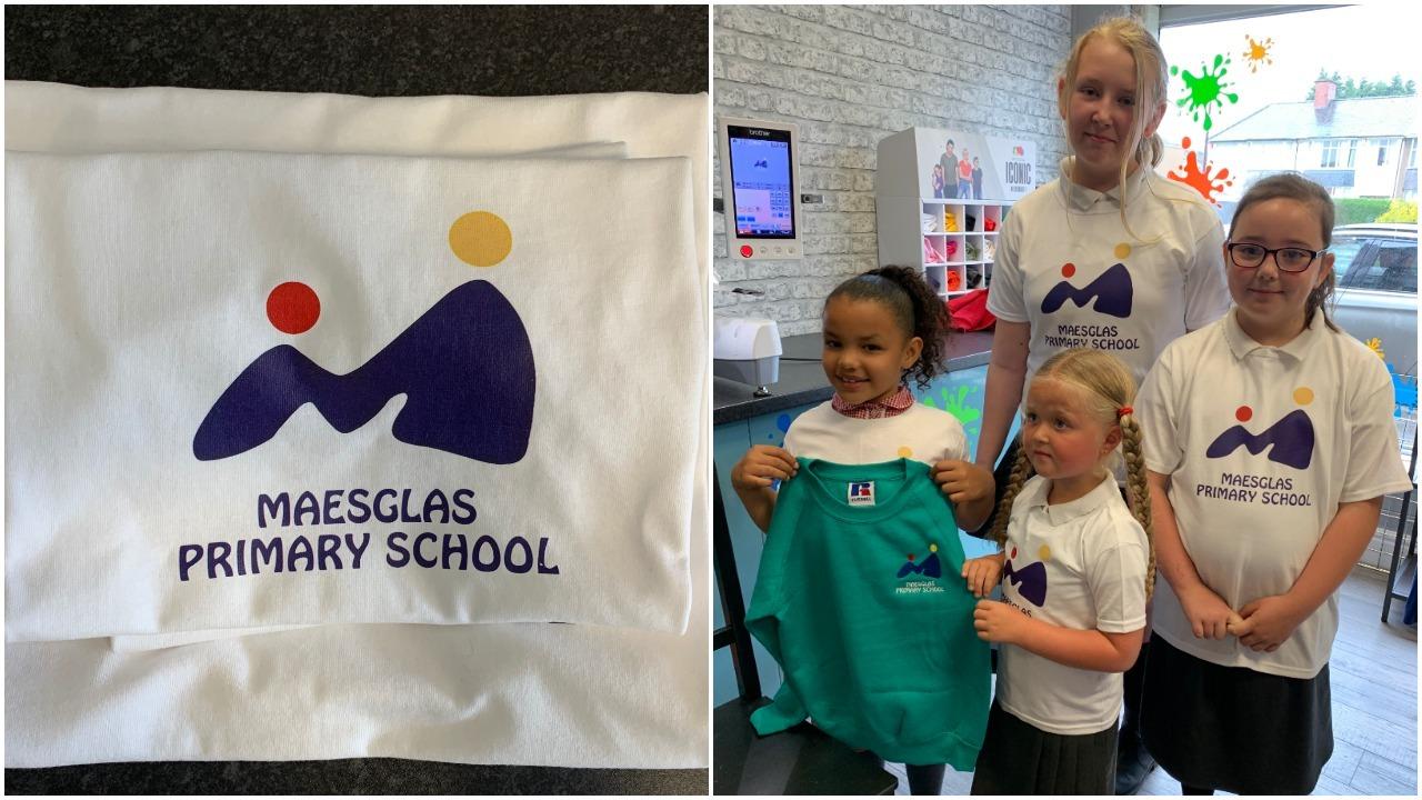 Maesglas Primary School pupils design new logo for their school uniform