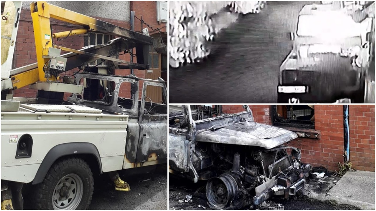 Shocking CCTV footage captures moment arsonist is engulfed in fireball during Crumlin 'petrol bombing'