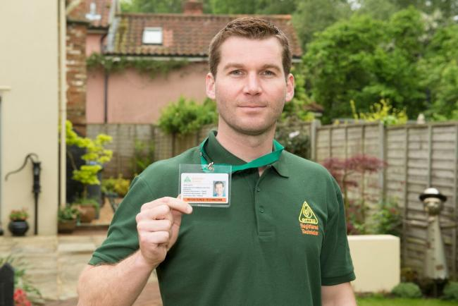: 'Look for the badge': An OFTEC technician with his ID card