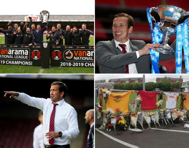Newport County AFC fans pay tribute to Justin Edinburgh with shirts and flowers - and here is a picture gallery of his career
