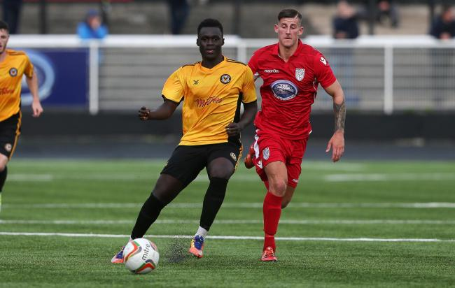 DRIVEN: Momodou Touray is ready to push on at Newport