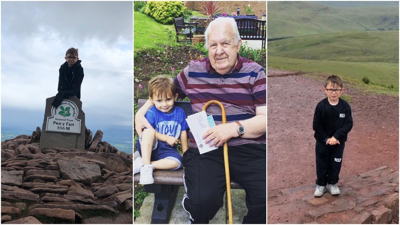 Six-year old from Ringland climbed Pen-Y-Fan for Alzheimer's Research UK