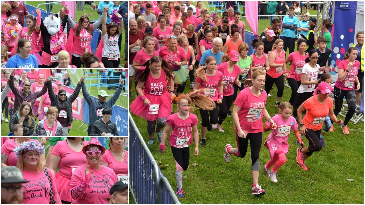 Cwmbran Race for Life sees runners dress in pink for Cancer Research UK